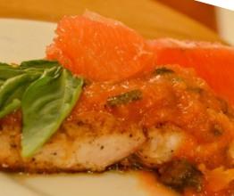 Pan-Fried Flounder Fillet with Grapefruit Balsamic Sauce Recipe