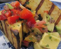 Grilled Tofu with Avocado and Citrus Salsa Recipe