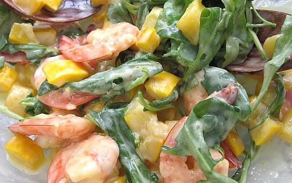 Pan Seared Shrimp & Browned Zucchini Salad (Dukan Diet PV Cruise Recipe)