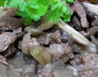 Beef Stroganoff with Mushroom (Atkins Diet Phase 1 Recipe)