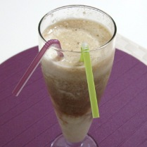 Two-Layer Milk Coffee Banana Smoothie (Diabetic Recipe)