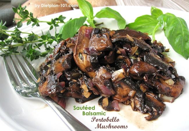 Saut 233 Ed Balsamic Portobello Mushrooms South Beach Phase 1 Recipe Diet Plan 101