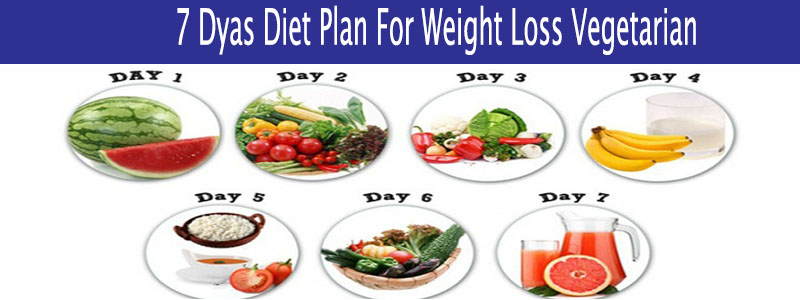 7 Days Diet Plan For Weight Loss Vegetarian
