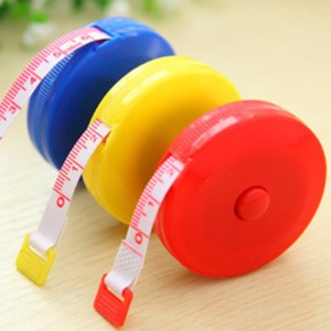 2018 New Retractable Colorful Portable Retractable Ruler Tape Measure 60 inch Sewing Cloth Dieting Tailor 1.5M wholesale