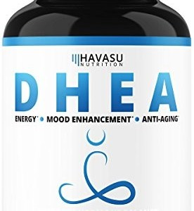 Havasu NutritionExtra Strength DHEA 50 mg Supplement - Weight Loss & Helps Balance Hormone Levels - Youthful Energy Levels for Men & Women - Metabolism Support, Non-GMO