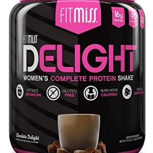 FitMiss Delight Protein Powder- Healthy Nutritional Shake for Women with Whey Protein, Fruits, Vegetables and Digestive Enzymes to Support Weight Loss and Lean Muscle Mass, Chocolate, 1.2 Pound