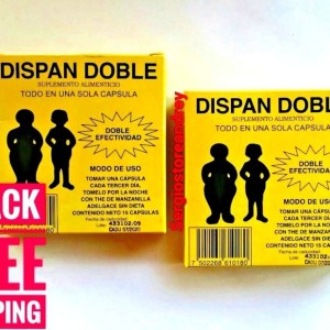 2 Pack DISPAN DOBLE Diet Capsules Fat blockers FAST STRONG DETOX Weight Reducer