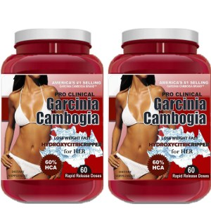 2 x Garcinia Cambogia Extract Pro Clinical Weight Loss 100% HCA DIET