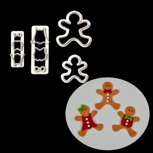 Christmas Gingerbread Man Cut Dieting Christmas Die Set Fondant Cake Mold P098