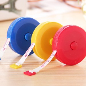 1pcs New Retractable Colorful Portable Retractable Ruler Tape Measure 60 inch Sewing Cloth Dieting Tailor 1.5M