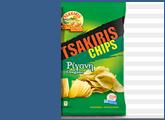 Πατατάκια με ρίγανη Tsakiris