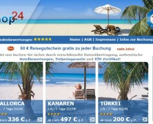 Travelshop-24.net – Schnapp Dir den 60€ Reisegutschein!