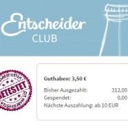 EntscheiderClub – Geld mit Online Umfragen …bei mir sind es 25€ im Monat