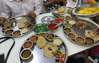Sumptuous thali at Osho