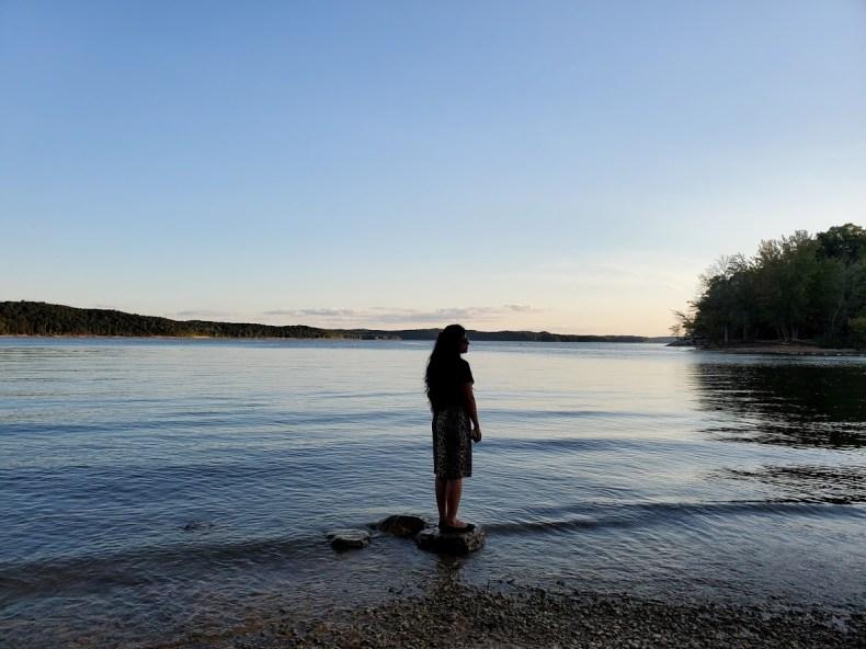 Dusk at the lake Monroe