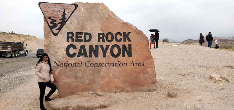 Red Rock Canyon Sign Board