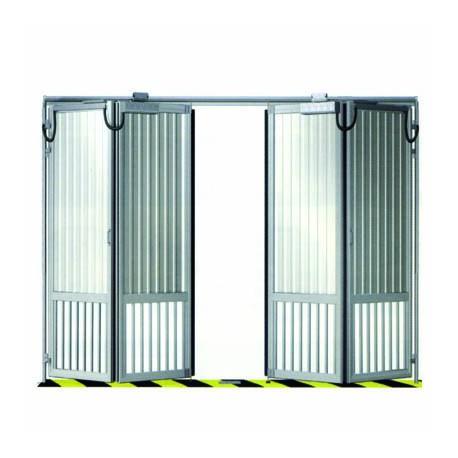porte de parking en accordeon standard a quatre vantaux 4000x2200 mm