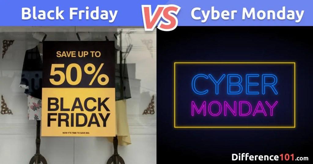 Black Friday ou Cyber Monday: Quelle est la différence ?