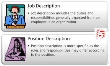 Difference Between Job Description and Position Description