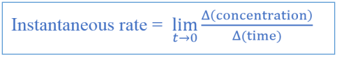 Key Difference - Instantaneous Rate vs Average Rate - 2