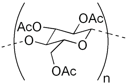 Structure of Cellulose triacetate