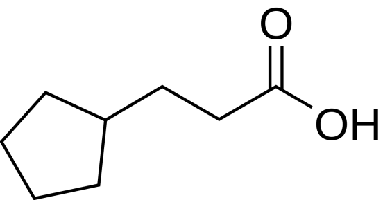 Chemical Structure of Cypionic Acid