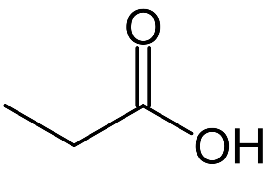 Chemical Structure of Propionic Acid
