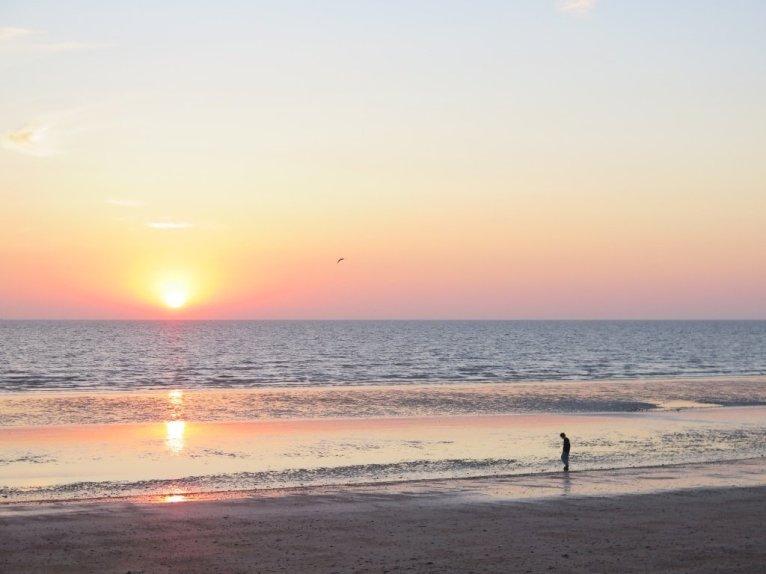Lever de soleil avant de plonger en Normandie