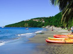 La plage de Malendure en Guadeloupe