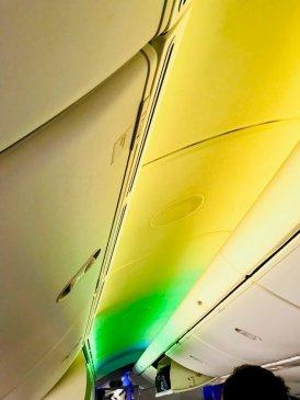 Lumière dans un avion