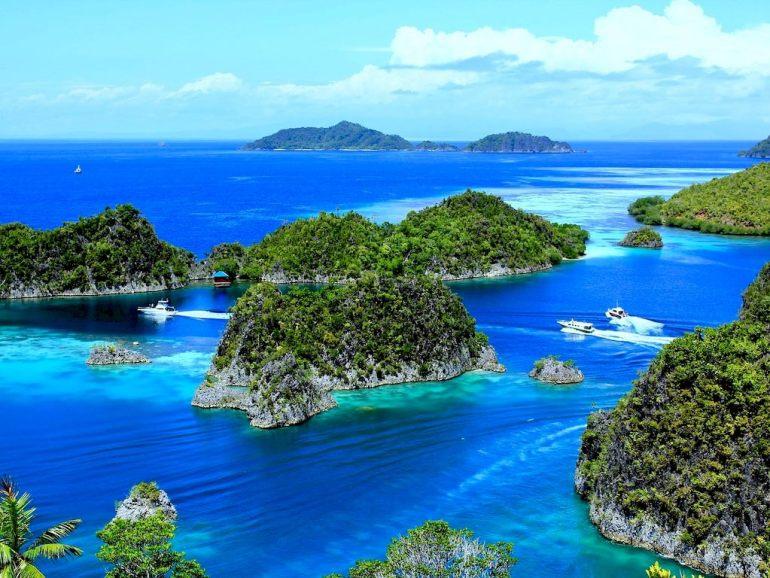 un paysage des îles de Raja Ampat