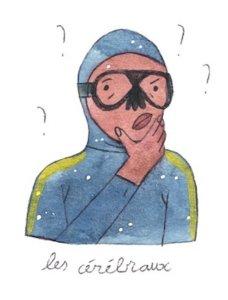 Illustration de Sara Quod représentant un plongeur de profil cérébral