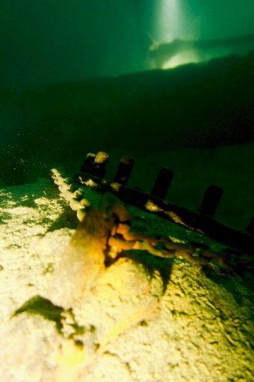Une ancienne mine immergée