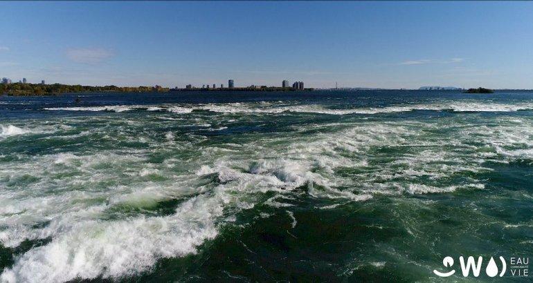 Les rapides du fleuve Saint-Laurent ou Nathalie Lasselin va plonger