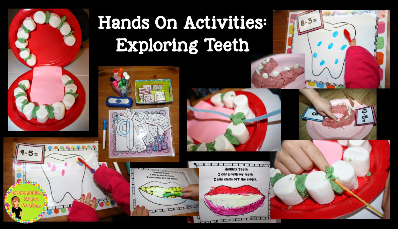 Hands On Dental Health Activities Differentiation Station