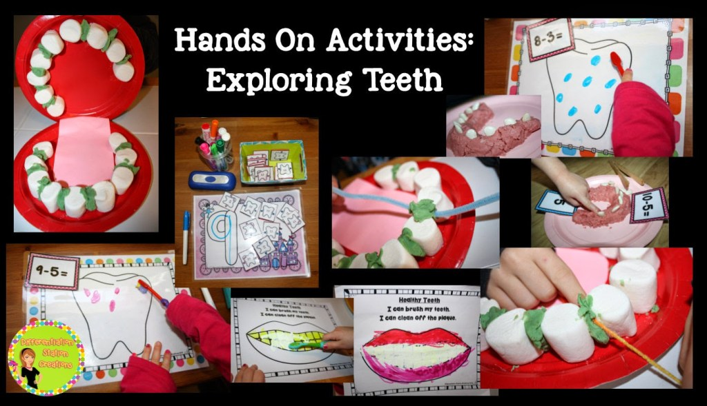 Tons of hands on activities to explore Dental Health.