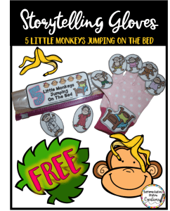 Free 5 Little Monkeys storytelling resources.