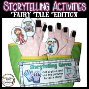 A great collection of storytelling activities: storytelling gloves, magnetic storyboard, finger puppets, and differentiated student response sheets.