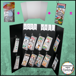 How to create a portable word wall station for your classroom!