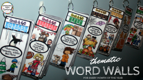 Thematic word walls for every month of the year