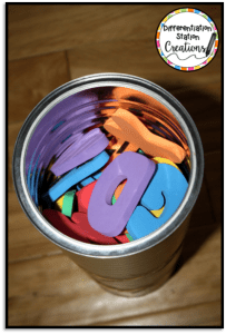 DIY Chicka Chicka Boom Boom magnetic tree. Use to explore the alphabet, numbers, and names!