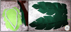 Create leaves for your Chicka Chicka Boom Boom tree with felt.