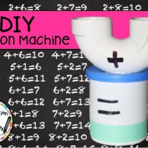 Make an addition machine out of PVC. Hands on addition practice for kids