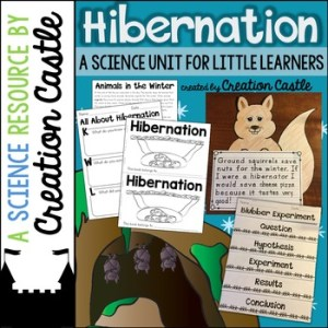A science unit for little learners to explore hibernation.