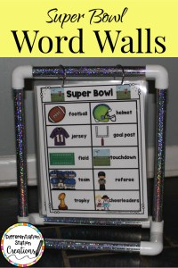 February word walls super bowl football