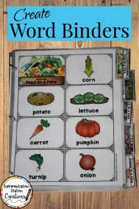word walls word binders