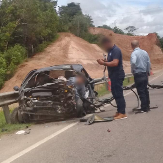 Aparatoso accidente deja una persona gravemente herida en la vía entre Barrancabermeja - Lizama
