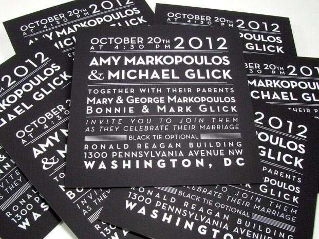 Foil Sting Wedding Invitations