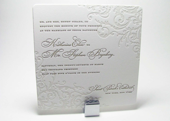 Elegant Flourish Wedding Invitations Digby Amp Rose