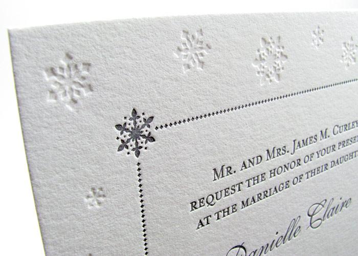Luxury Winter Wedding Snowflakes Invitation